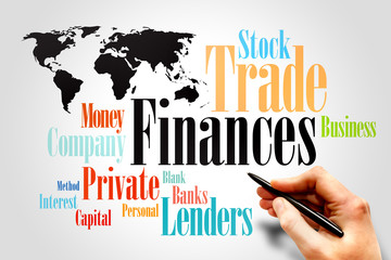 Word Cloud with Financing wording, business concept