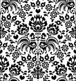 Seamless floral Polish folk pattern - Wycinanki, Wzory Lowickie - 75455447