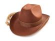 brown cowboy hat  on white