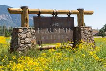 "Постер, картина, фотообои ""Entering sign Flagstaff"""