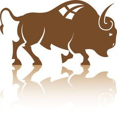 Bison Buffalo vector