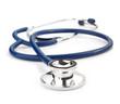 Leinwandbild Motiv medical stethoscope on white