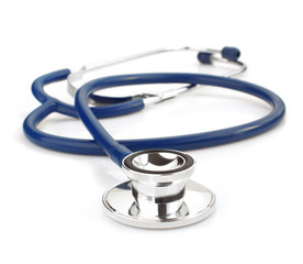 medical stethoscope on white