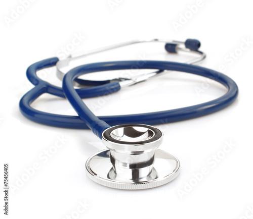 Leinwanddruck Bild medical stethoscope on white