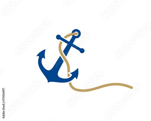anchor logo template - 75456497