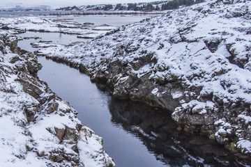 Silfra waterscape in Iceland
