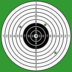 The raked target.