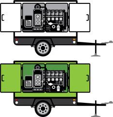 Generator trailer vector
