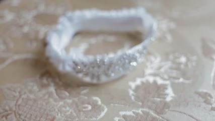 Wedding accessries, shoes and wedding garter