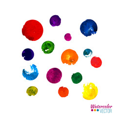 Vector watercolor hand painted palette