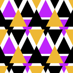 Seamless triangle pattern background geometric abstract texture