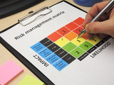 Identifying critical risk in a risk management matrix poster