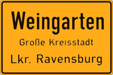 Weingarten - Ortsschild