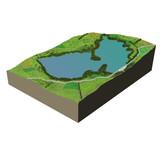 ecosystem terrain water poster
