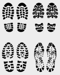 Various prints of shoes, vector Illustration
