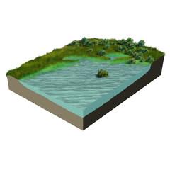 3d model terrain swamp