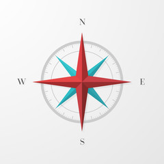 Compass Icon with Shadow