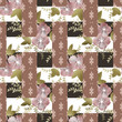 Abstract elegance seamless pattern with pastel flowers backgroun