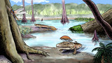 Origin of the amphibians, devonian poster