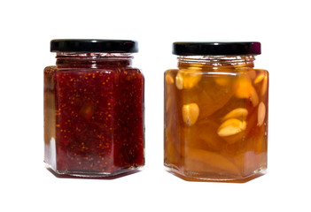Jam Jar isolated on white background