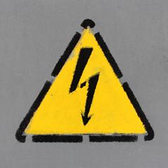 Danger électrique - pochoir