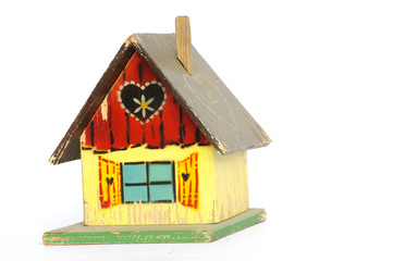 old wooden playhouse toy