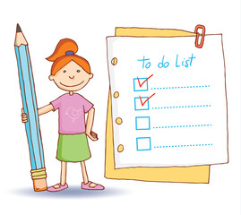 to do list. Vector illustration.