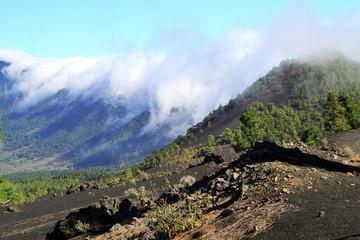 Volcano De Caldera de la Taburiente on Canary Island of La Palma