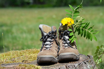 Wanderschuhe Sommer Pause Wandern