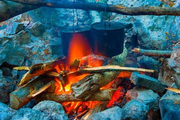 closeup camp-fire