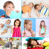 Cute little children collage