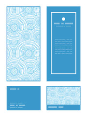 Vector doodle circle water texture vertical frame pattern