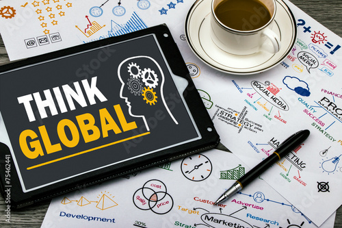 think global concept - 75462441