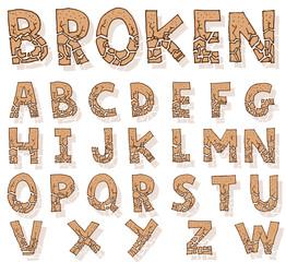 Hand drawn alphabet. vector