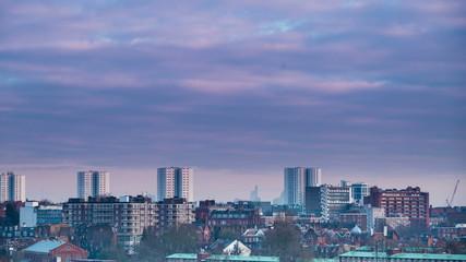 London Cityscape panning timelapse