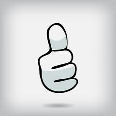 Icon finger up,  dog paw