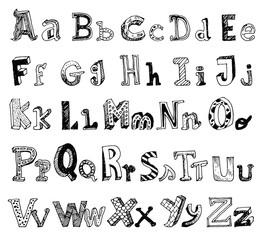 font doodle, vector