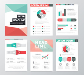 Set of Business Flyer, Brochure Design Templates. infographic