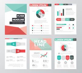 Set of Business Flyer, Brochure Design Templates. infographic