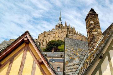 Landscape of Mont Saint Michel, France