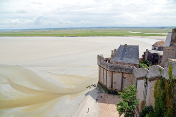 Landscape of Mont Saint Michel, France