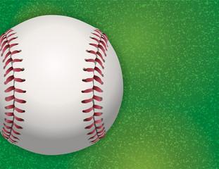 Baseball on Textured Grass Illustration