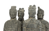 Terra cotta warriors, isolated