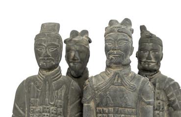 Terra cotta warriors, isolated