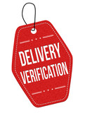 Delivery verification  label or price tag poster