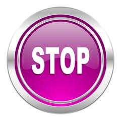 stop violet icon