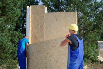 Team of builders on site