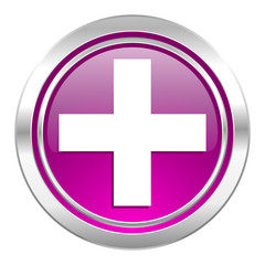 plus violet icon cross sign