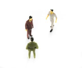Miniature people Team group