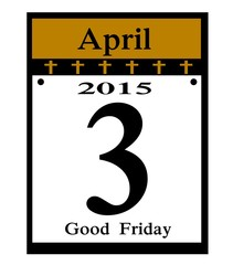 2015 good frida calendar date icon